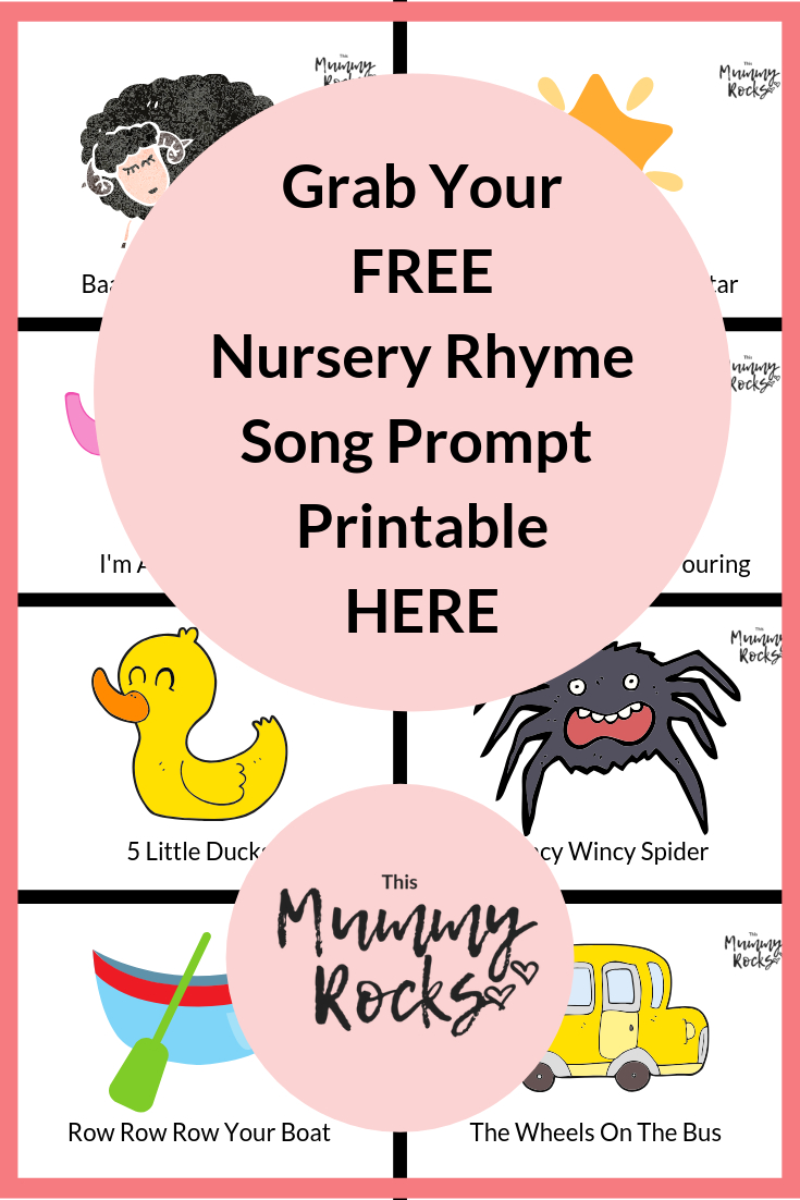 Grab Yourself A Free Nursery Rhyme Song Prompt Printable Here | Free - Free Printable Nursery Rhymes Songs