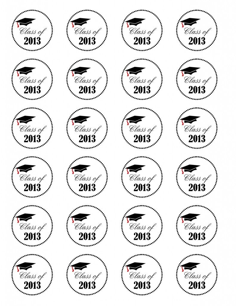 Graduation Cupcaketopper - Class Of 2013 Free Printable - Use A 1 1 - Free Printable Graduation Cupcake Toppers