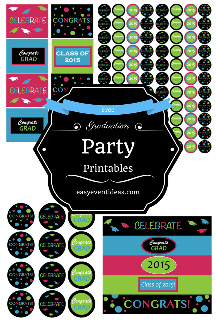 Graduation – Easy Event Ideas - Free Printable Graduation Address Labels