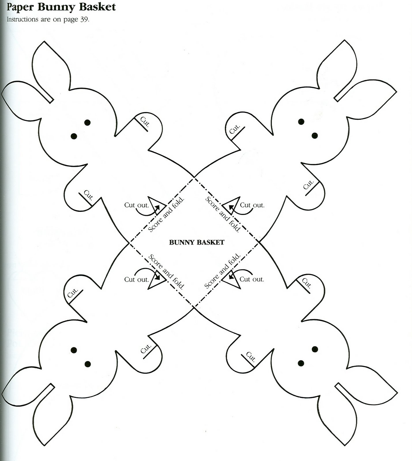 Great Printable Bunny Basket Template Images. Best Bunny Basket - Free Printable Easter Egg Basket Templates