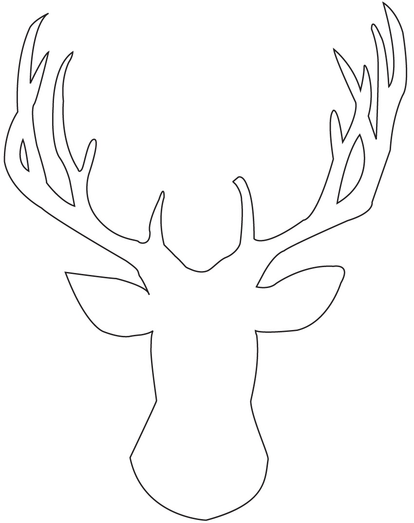 Great Template For Reindeer Antlers Pictures. Template Reindeer - Reindeer Antlers Template Free Printable