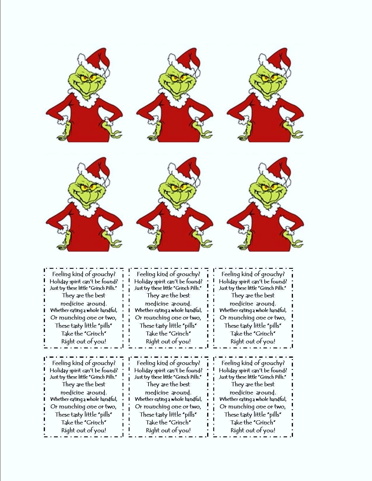 Grinch Tic Tac Labels | 2012 Christmas In A Hotel | Grinch Christmas - Grinch Pills Free Printable