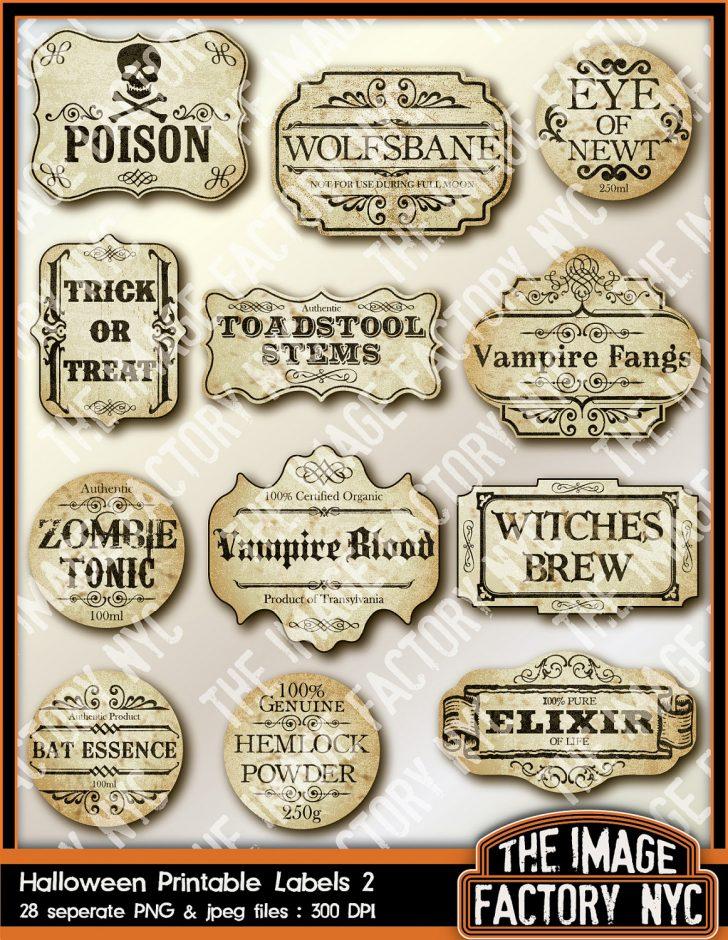 Free Printable Halloween Bottle Labels