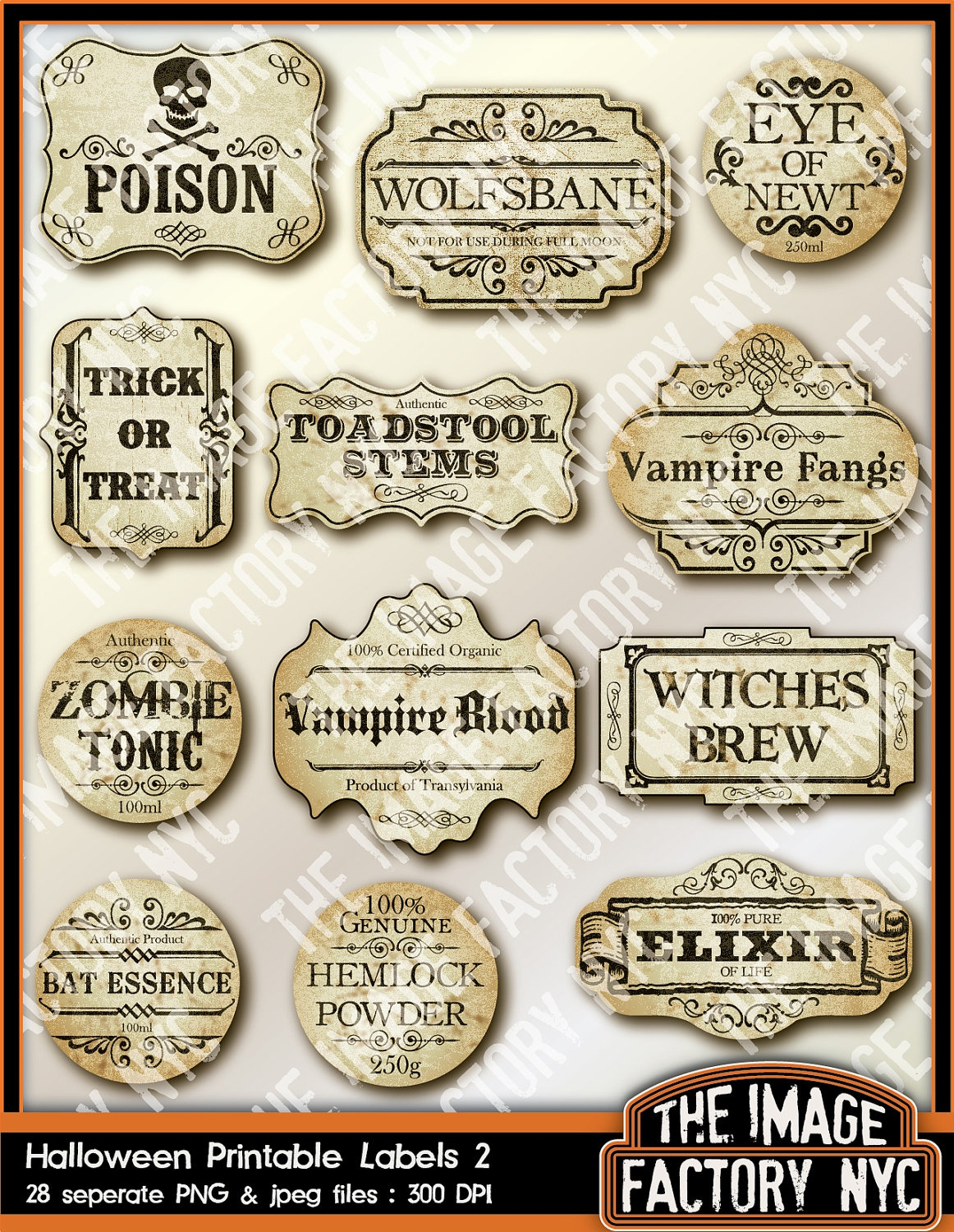 Halloween Bottle Labels Printable Free (91+ Images In Collection) Page 3 - Free Printable Halloween Bottle Labels