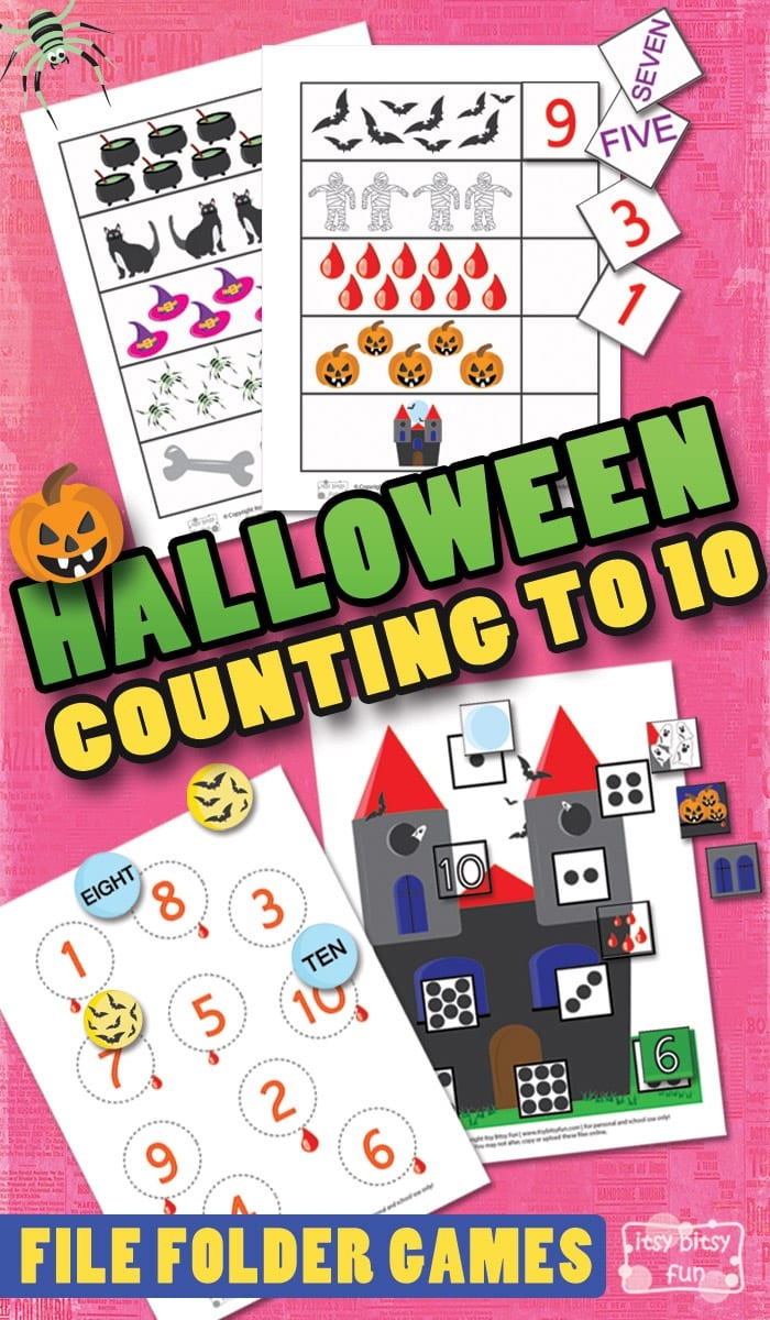 Halloween Counting To 10 File Folder Games - Itsy Bitsy Fun - Free Printable Fall File Folder Games