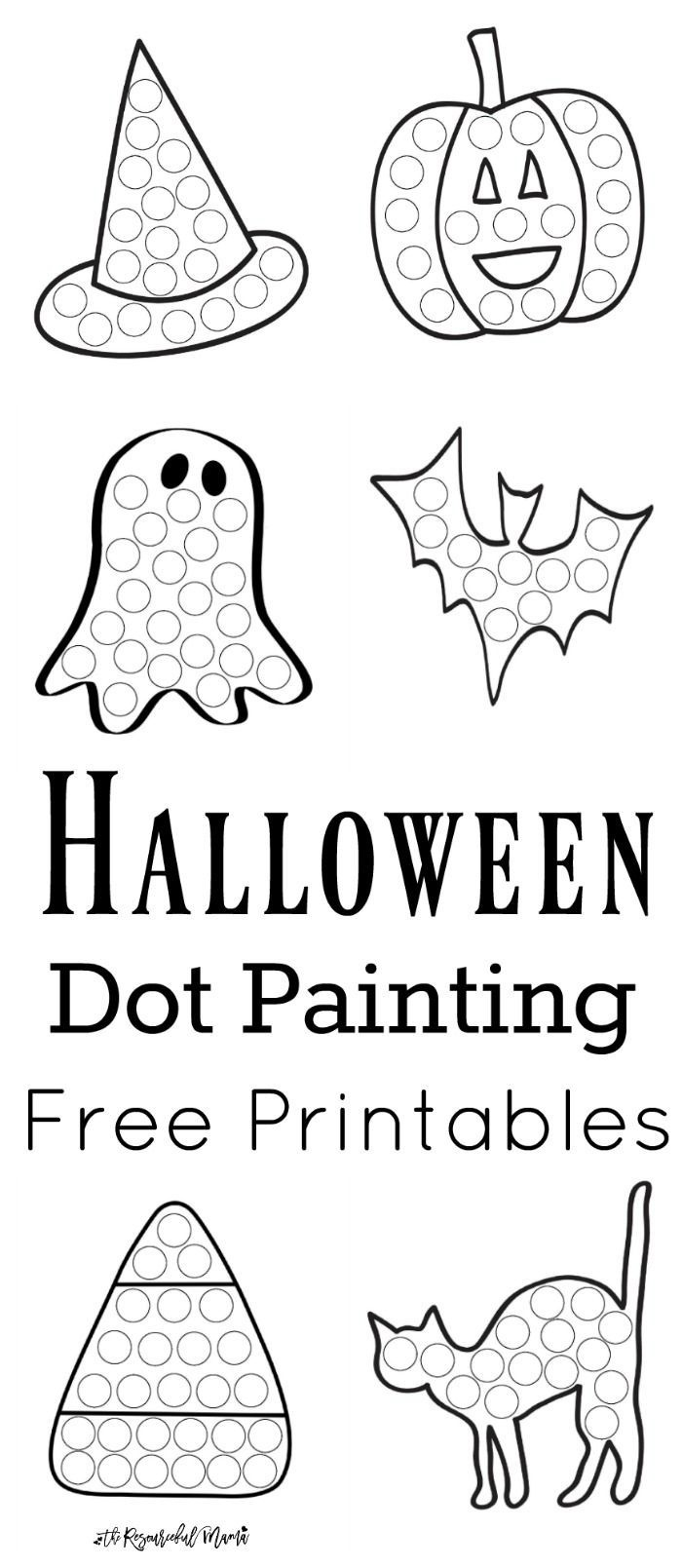 Halloween Dot Painting {Free Printables} | Halloween | Halloween - Free Printable Halloween Activities