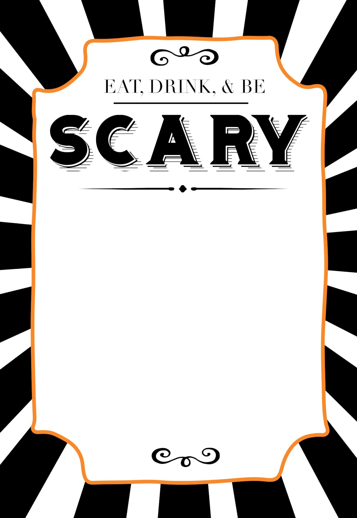 Halloween Invitations Free Printable Template - Paper Trail Design - Halloween Invitations Free Printable Black And White