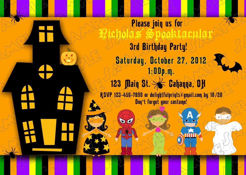Halloween Kids Birthday Party Invitations | Printable Halloween - Free Printable Halloween Birthday Party Invitations