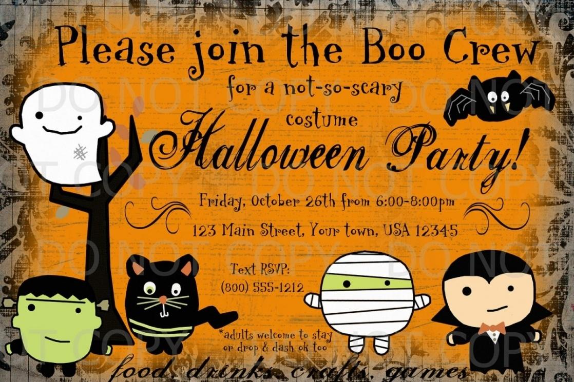 Halloween Party Invitation Templates Free - Tutlin.psstech.co - Free Halloween Birthday Invitation Templates Printable