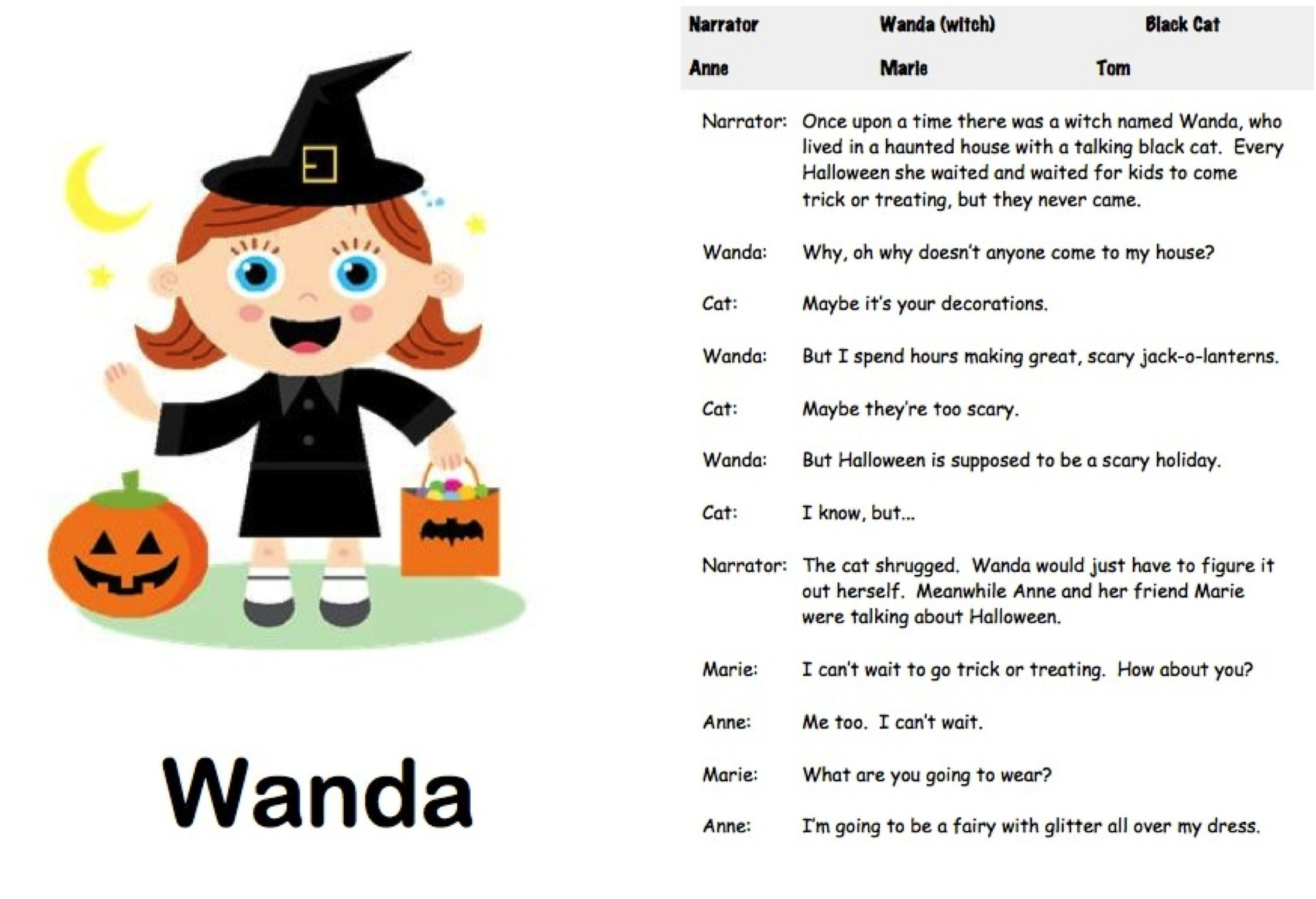 Halloween Readers' Theater: The Witch's House | Readers' Theater - Free Printable Halloween Play Scripts