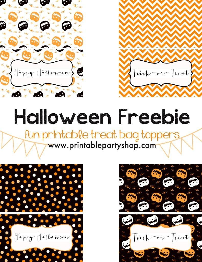 Halloween Treats For Kids- Free Printable   Halloween   Halloween - Free Printable Trick Or Treat Bags