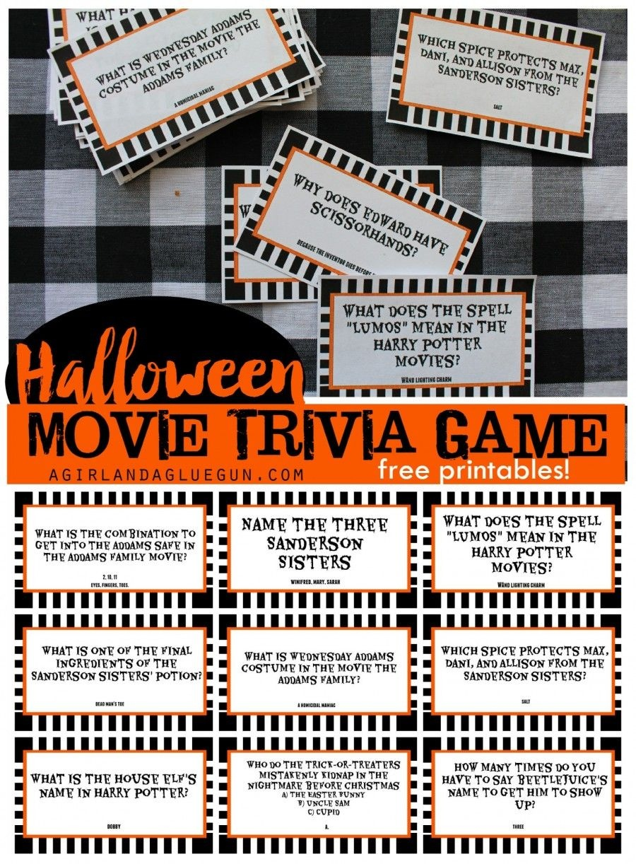 Halloween Trivia Game With Free Printables-Kids Version And Adult - Free Printable Halloween Party Games
