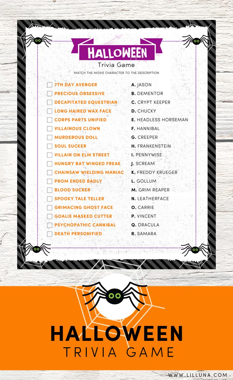 Halloween Trivia Print   Holidays - Halloween & Fall Wreaths - Halloween Trivia Questions And Answers Free Printable