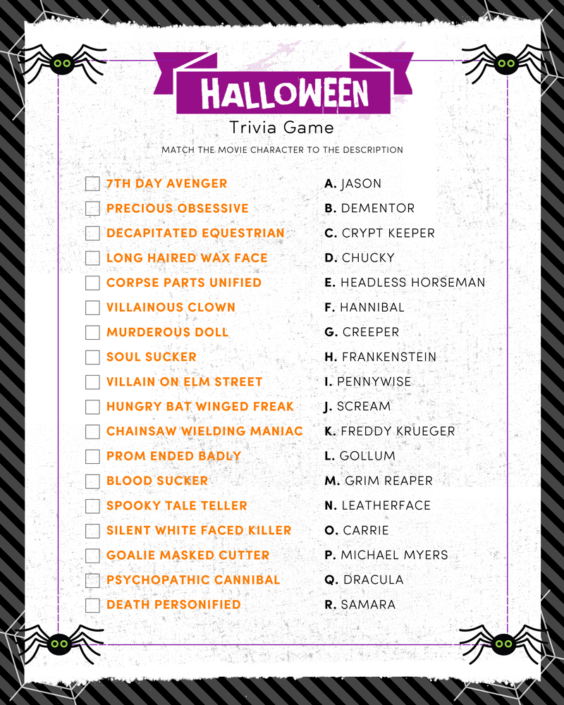 Halloween Trivia Print - Lil' Luna - Halloween Trivia Questions And Answers Free Printable