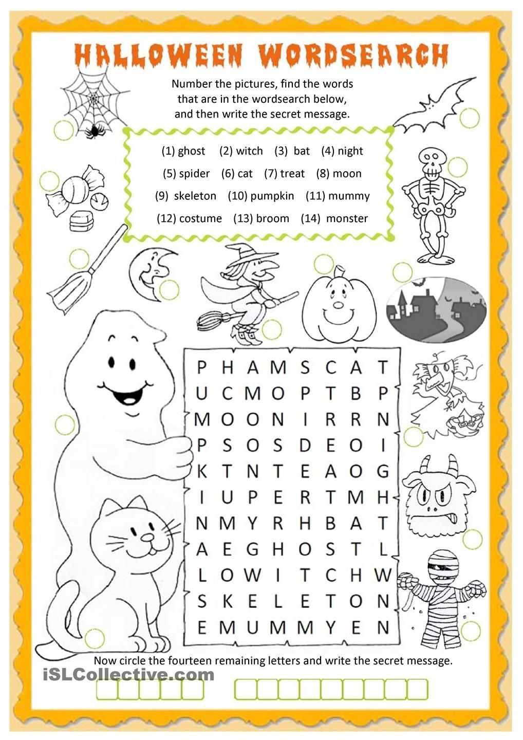 Halloween Wordsearch Worksheet - Free Esl Printable Worksheets Made - Free Printable French Halloween Worksheets