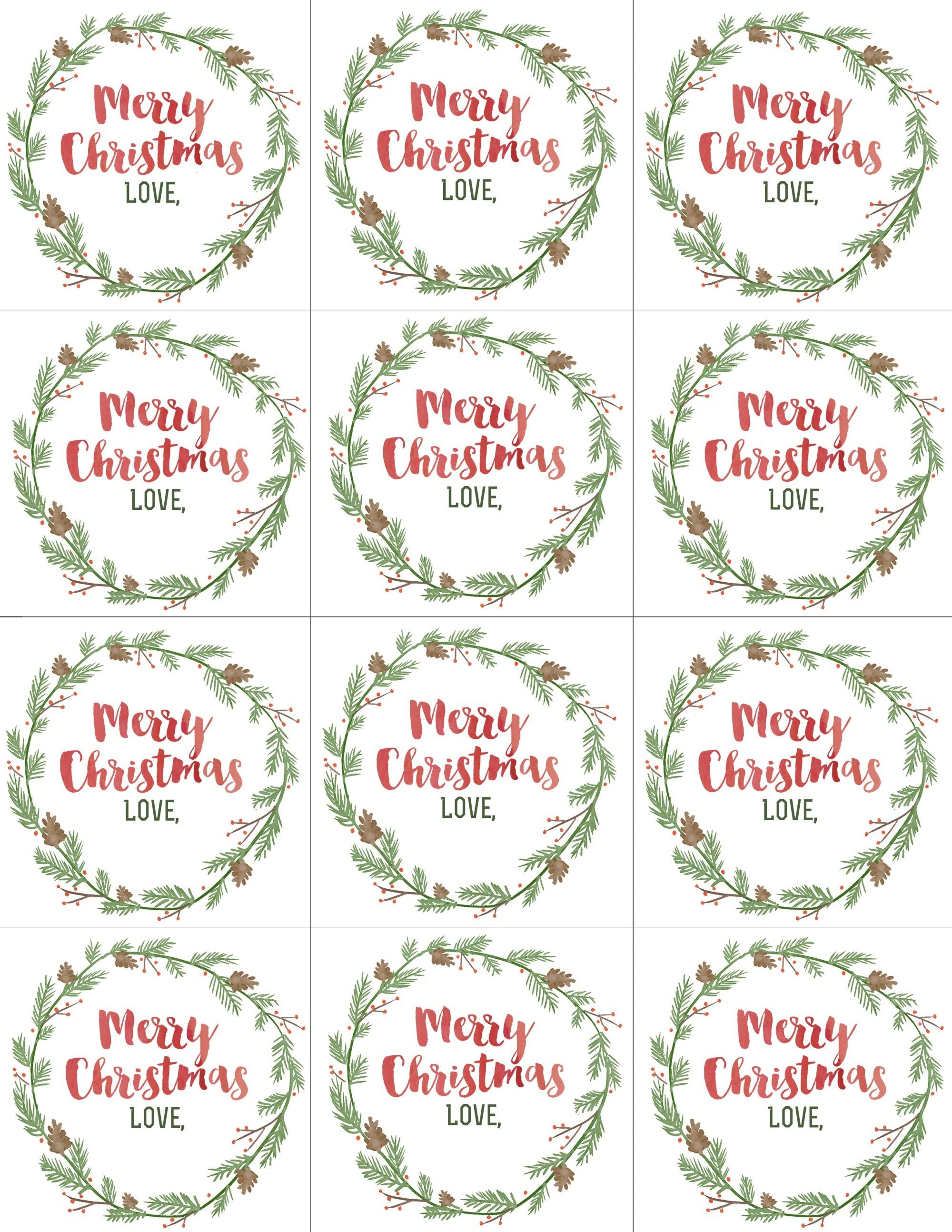 Hand Painted Gift Tags Free Printable | 2019 Christmas | Christmas - Free Printable Christmas Tags