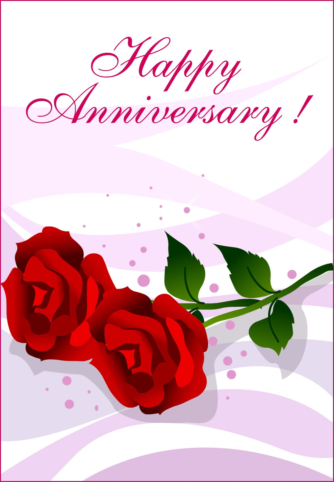 Happy Anniversary Roses - Happy Anniversary Card (Free)   Greetings - Printable Cards Free Anniversary