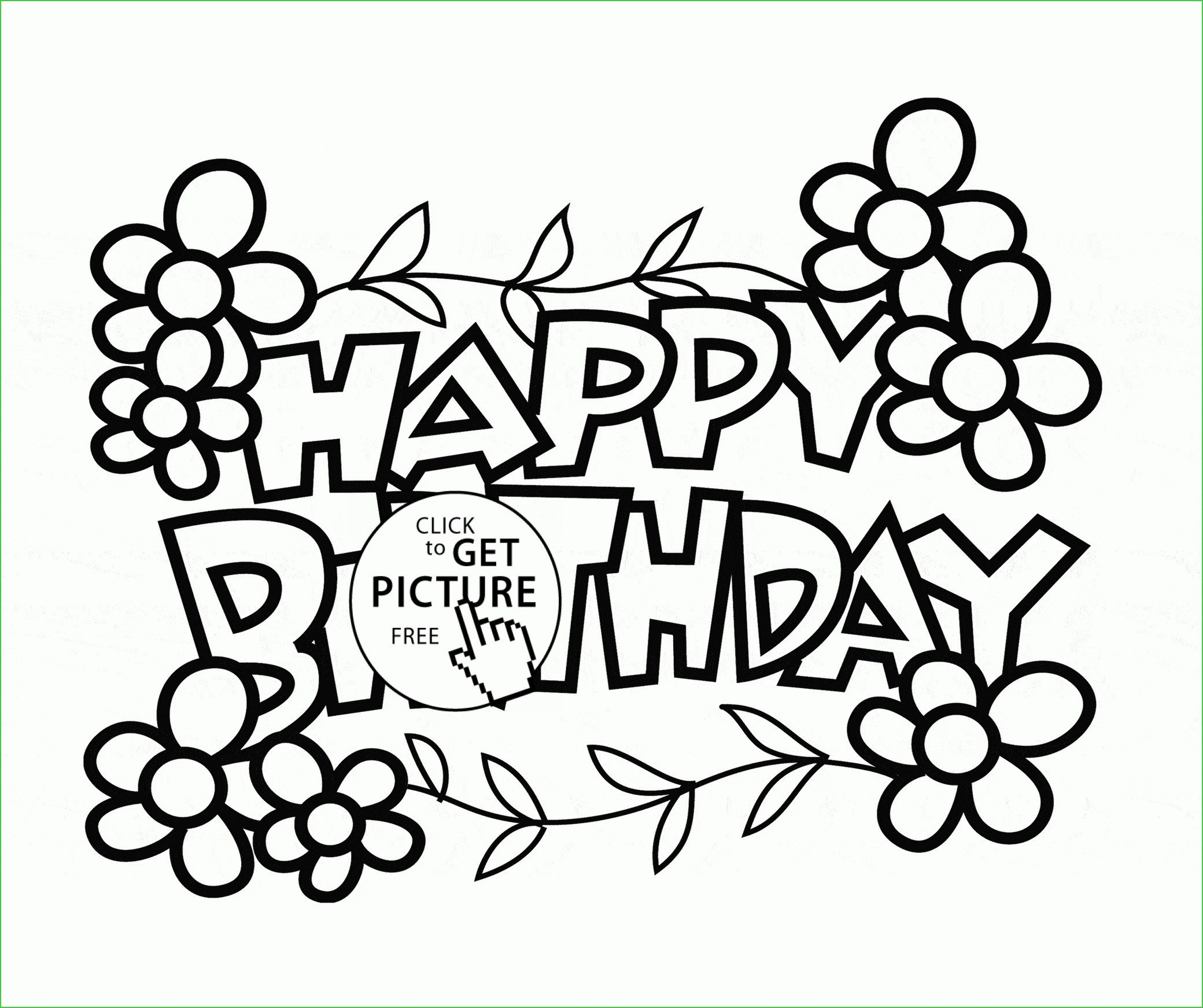 Happy Birthday Drawings For Card | Free Download Best Happy Birthday - Free Printable Birthday Cards To Color