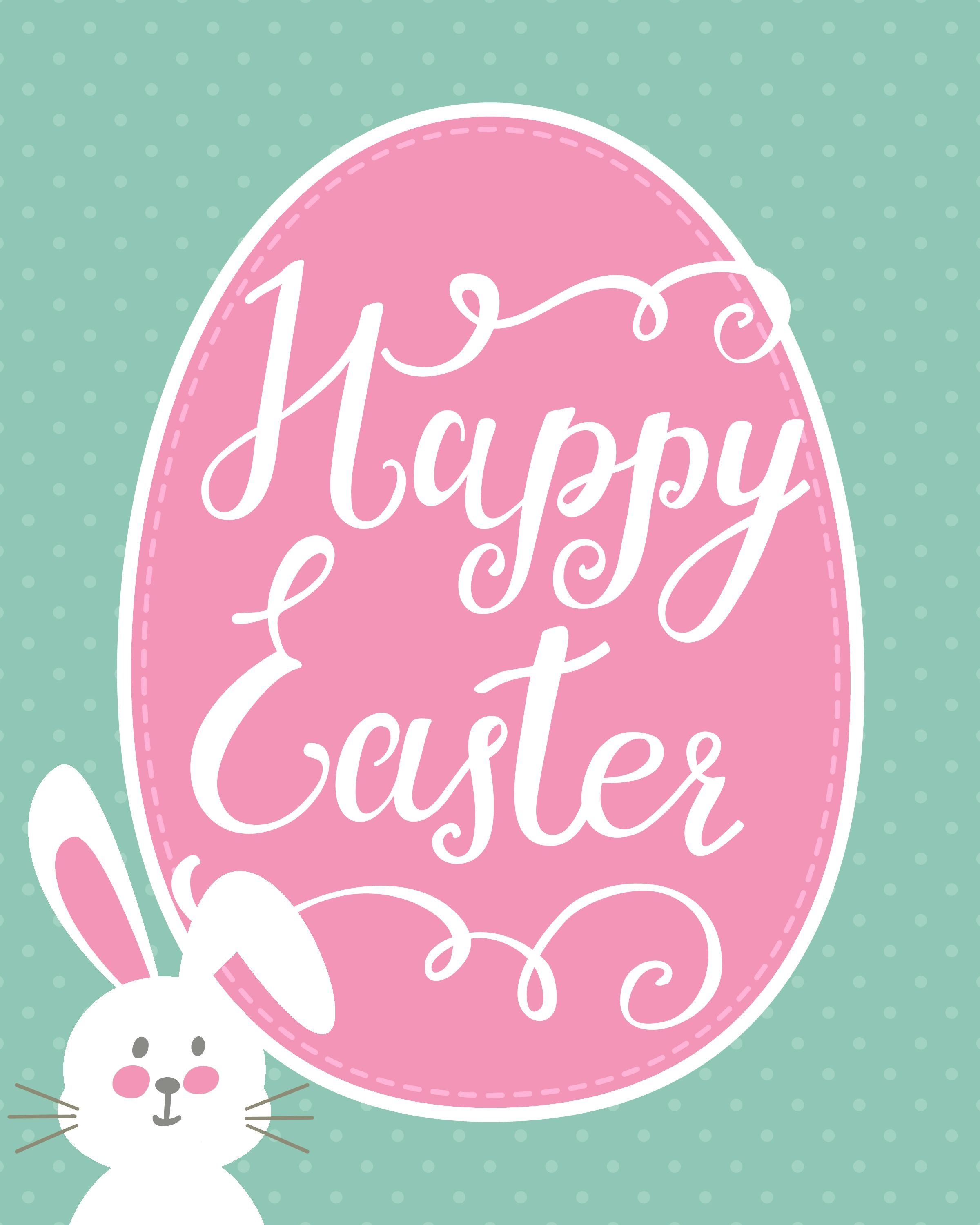Happy Easter Bunny Printable | Holidays - Easter | Happy Easter - Free Printable Easter Cards