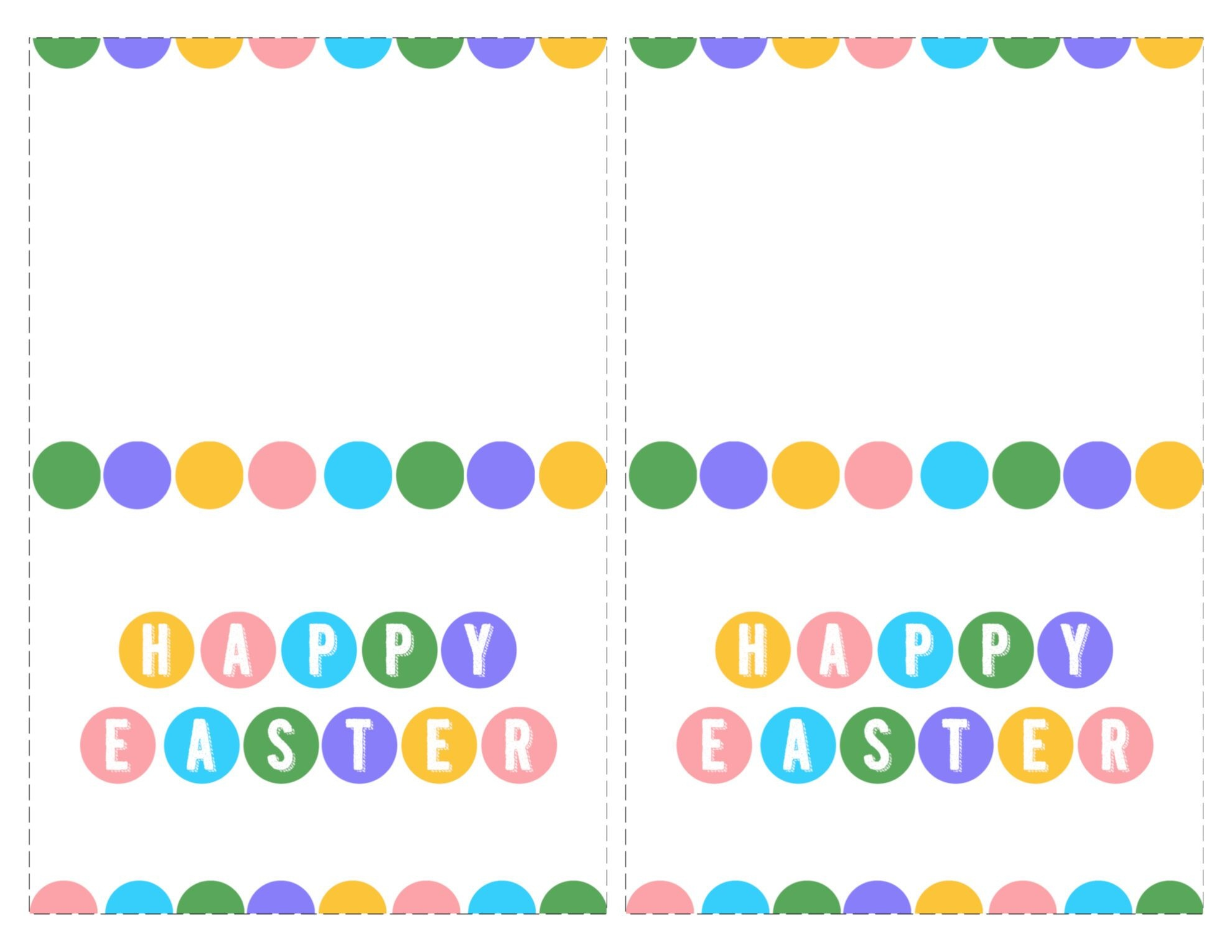 Happy Easter Cards Printable - Free - Paper Trail Design - Free Printable Easter Cards