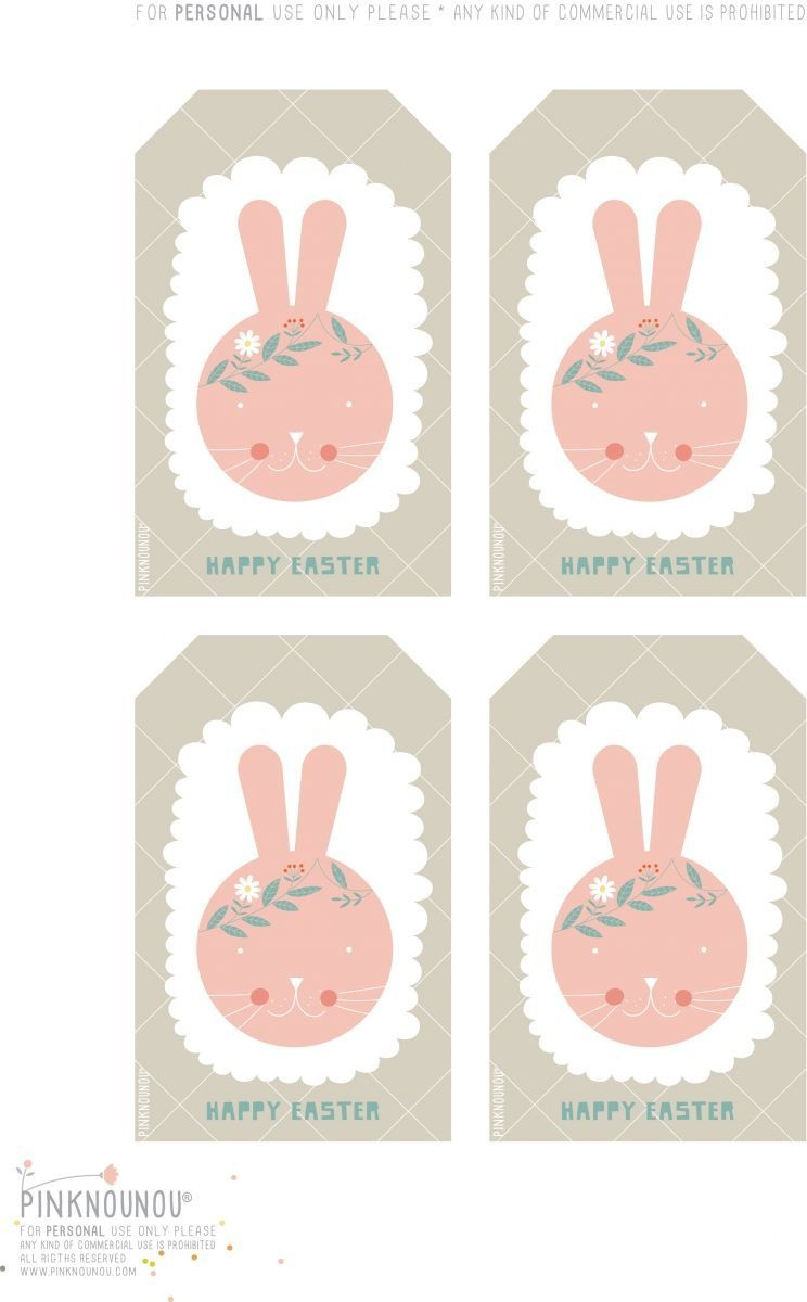Happy Easter Free Printable Bunny Tags   Cute Printables   Easter - Free Printable Easter Tags