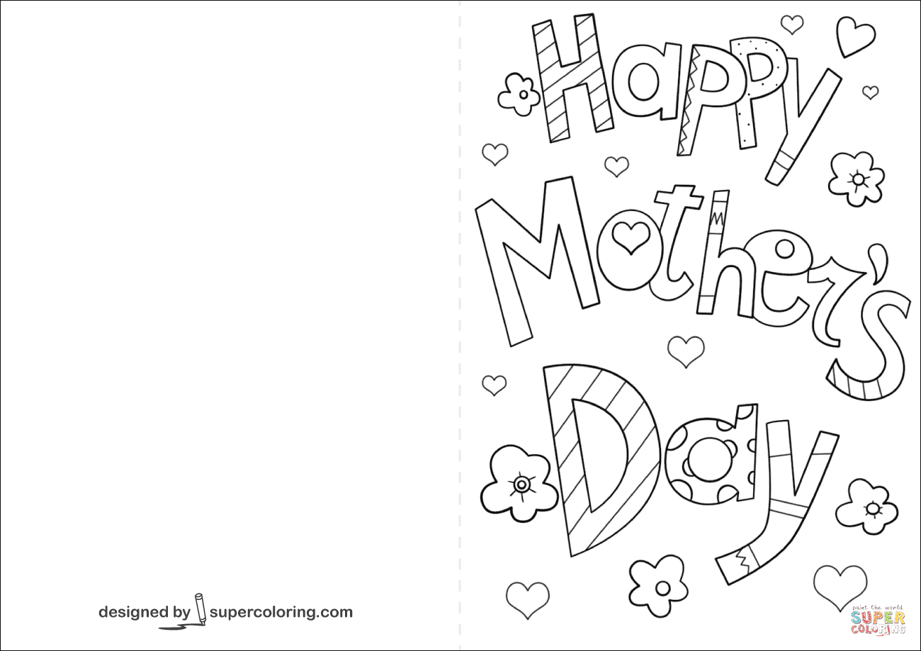 Happy Mother's Day Card Coloring Page | Free Printable Coloring Pages - Free Printable Cards To Color