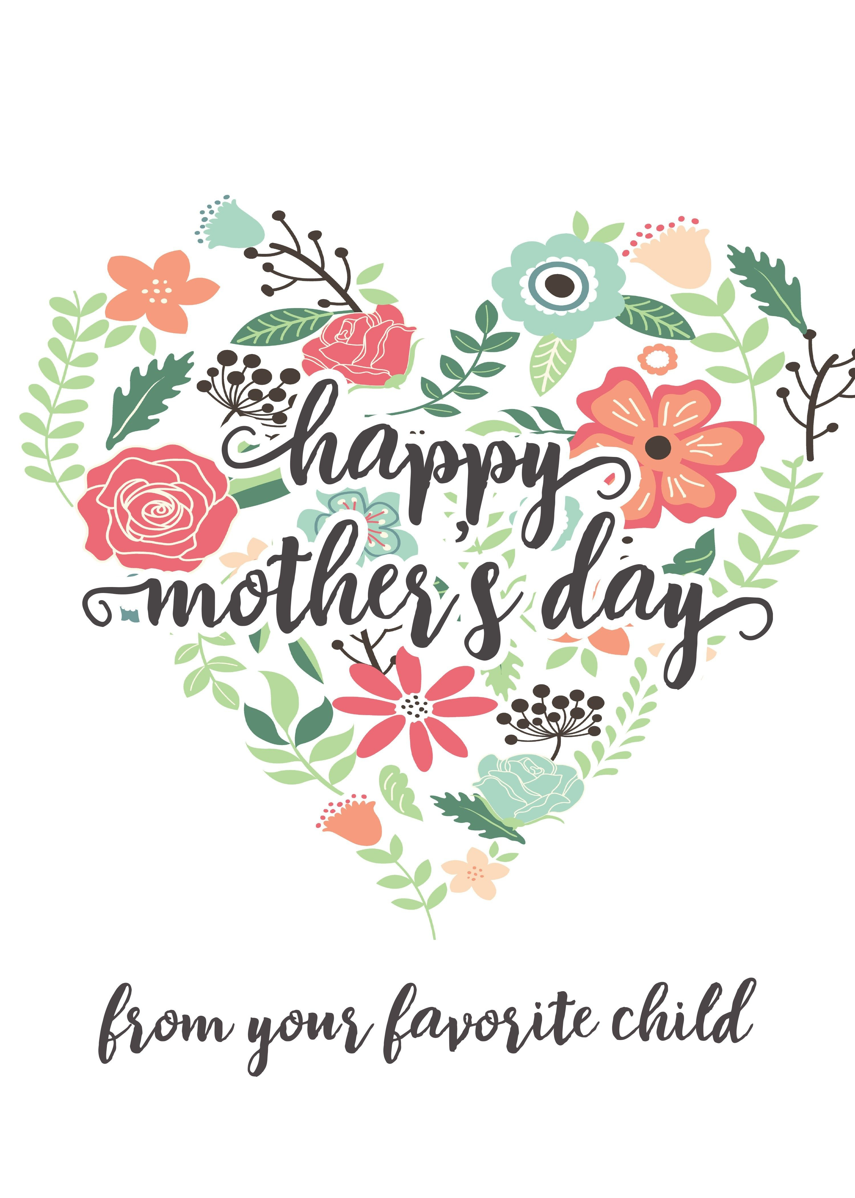 Happy Mothers Day Messages Free Printable Mothers Day Cards - Free Printable Mothers Day Cards No Download