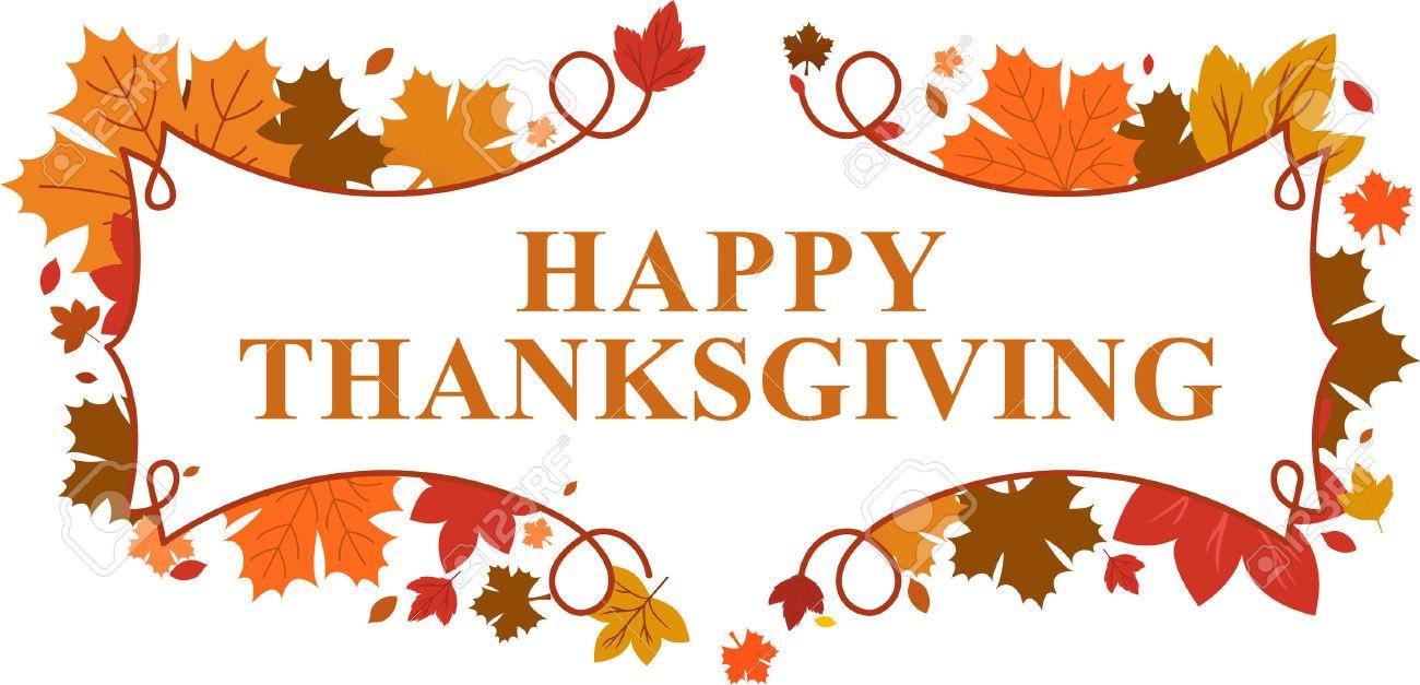 Happy Thanksgiving Banner 2018 - Free Printable Calendar, Blank - Free Printable Thanksgiving Graphics