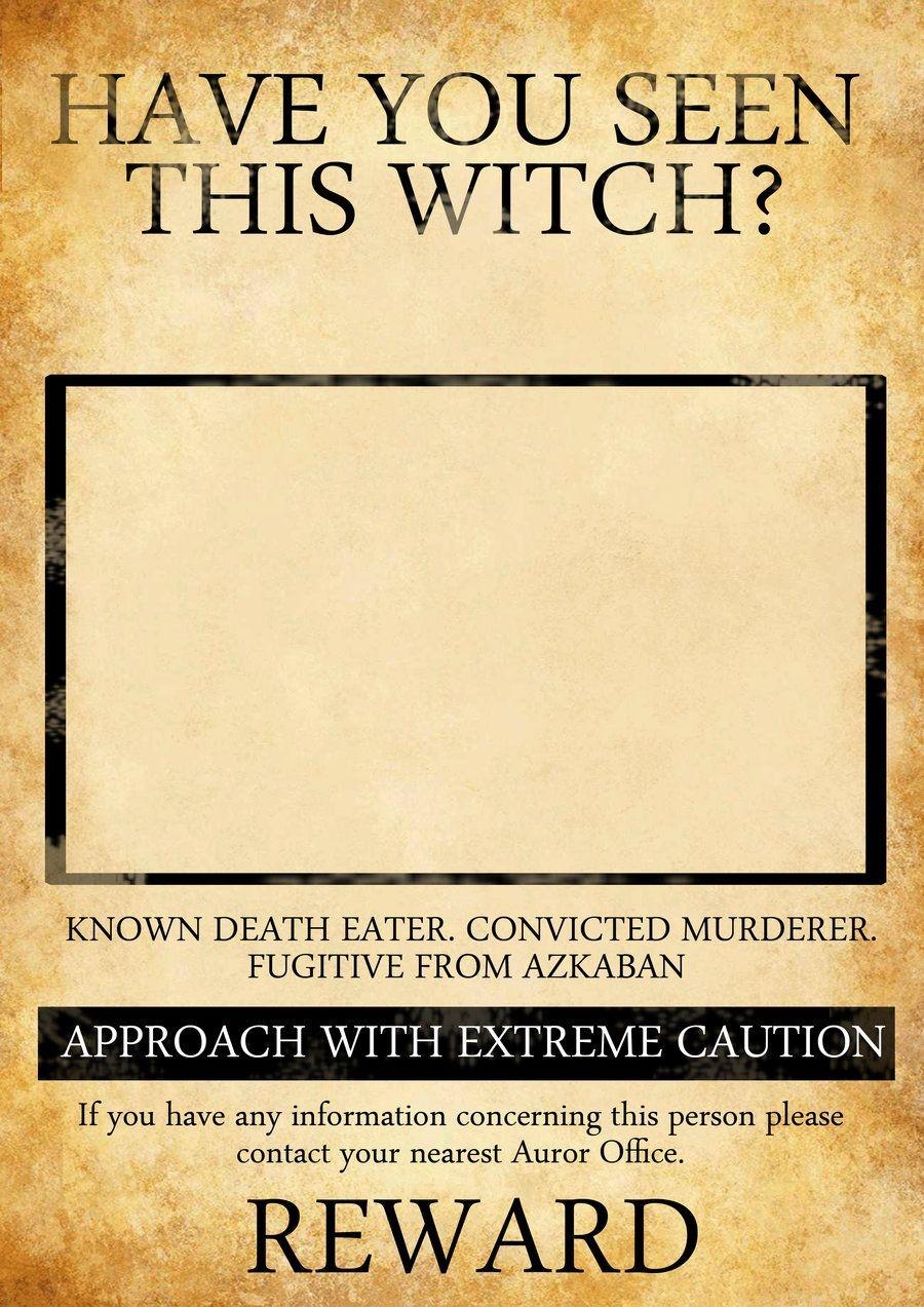 Harry Potter Inspired Wanted Posterkatebloomfield.deviantart - Free Printable Harry Potter Posters