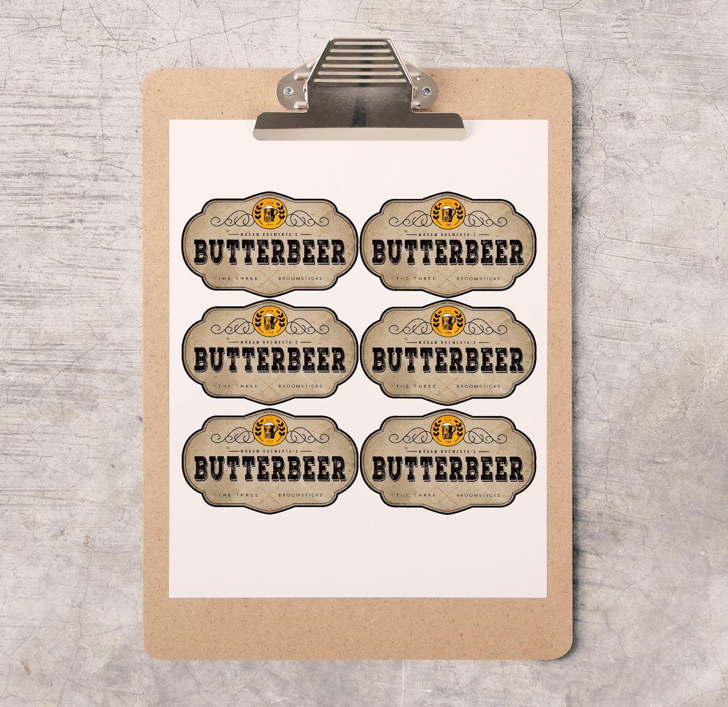 Harry Potter Party/bachelorette Printable's | Hp⚡ | Harry Potter - Free Printable Butterbeer Labels