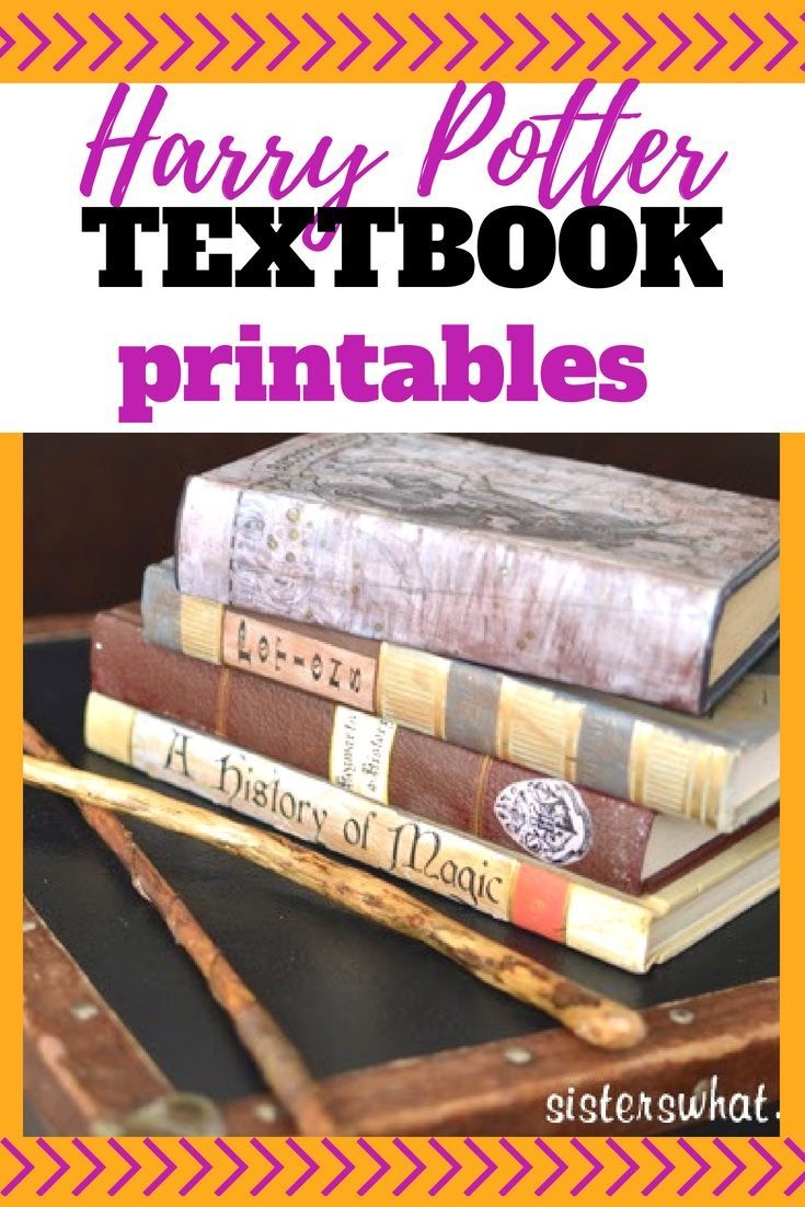 Harry Potter Spell Bookssisters, Sisters | Free Printables | The - Free Printable Textbooks