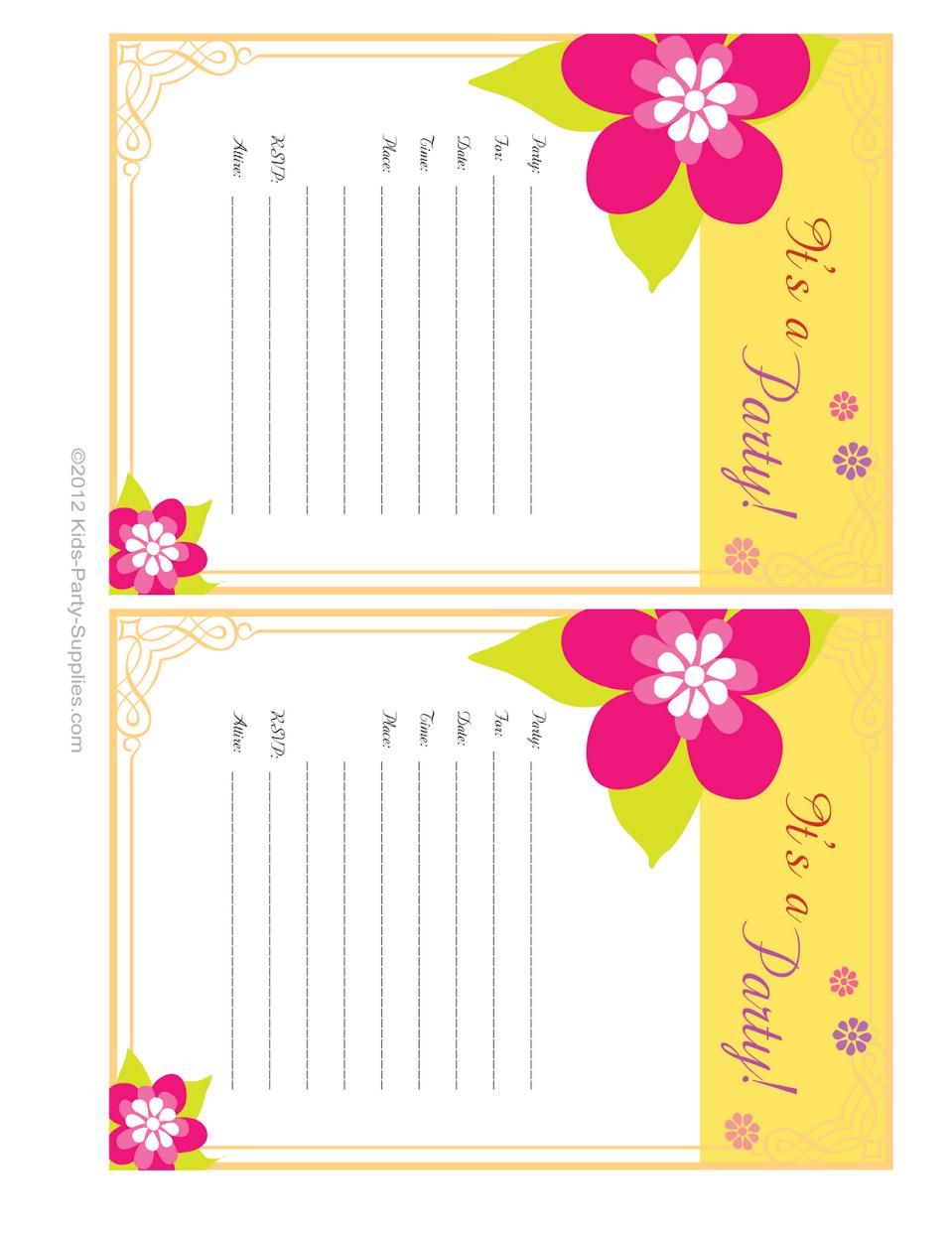 Hawaiian Party Invites Free - Tutlin.psstech.co - Hawaiian Party Invitations Free Printable