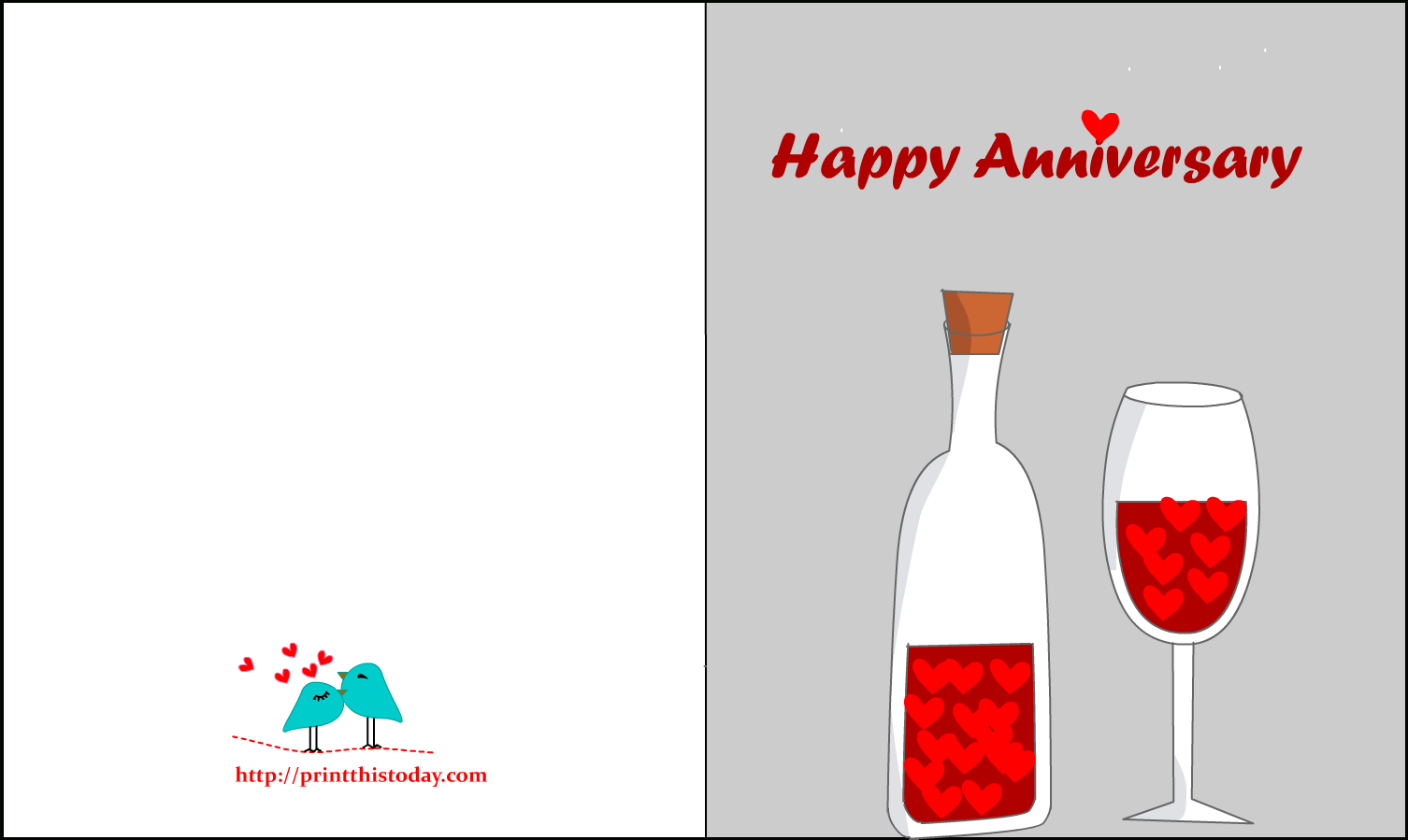 Hd Free Printable Anniversary Cards - Wedding Anniversary Card Print - Free Printable Anniversary Cards