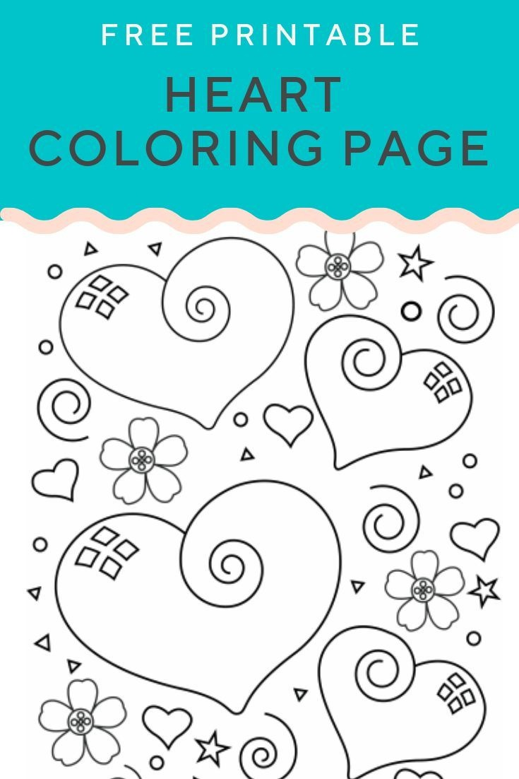 Heart Coloring Page | Free Printables ♡ | Valentines Day Coloring - Free Printable Heart Designs