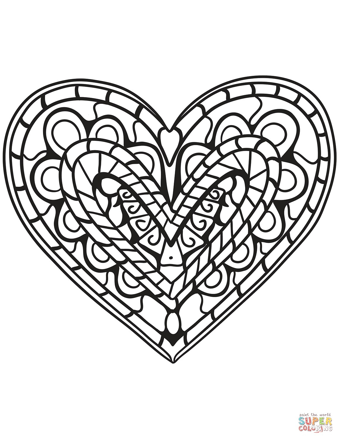 Heart Coloring Page Heart Coloring Pages Free Printable Pictures - Free Printable Heart Coloring Pages