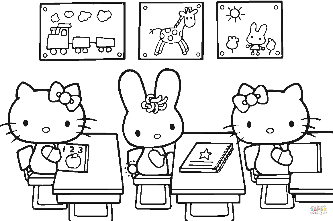 Hello Kitty Back To School Coloring Page   Free Printable Coloring Pages - Back To School Free Printable Coloring Pages