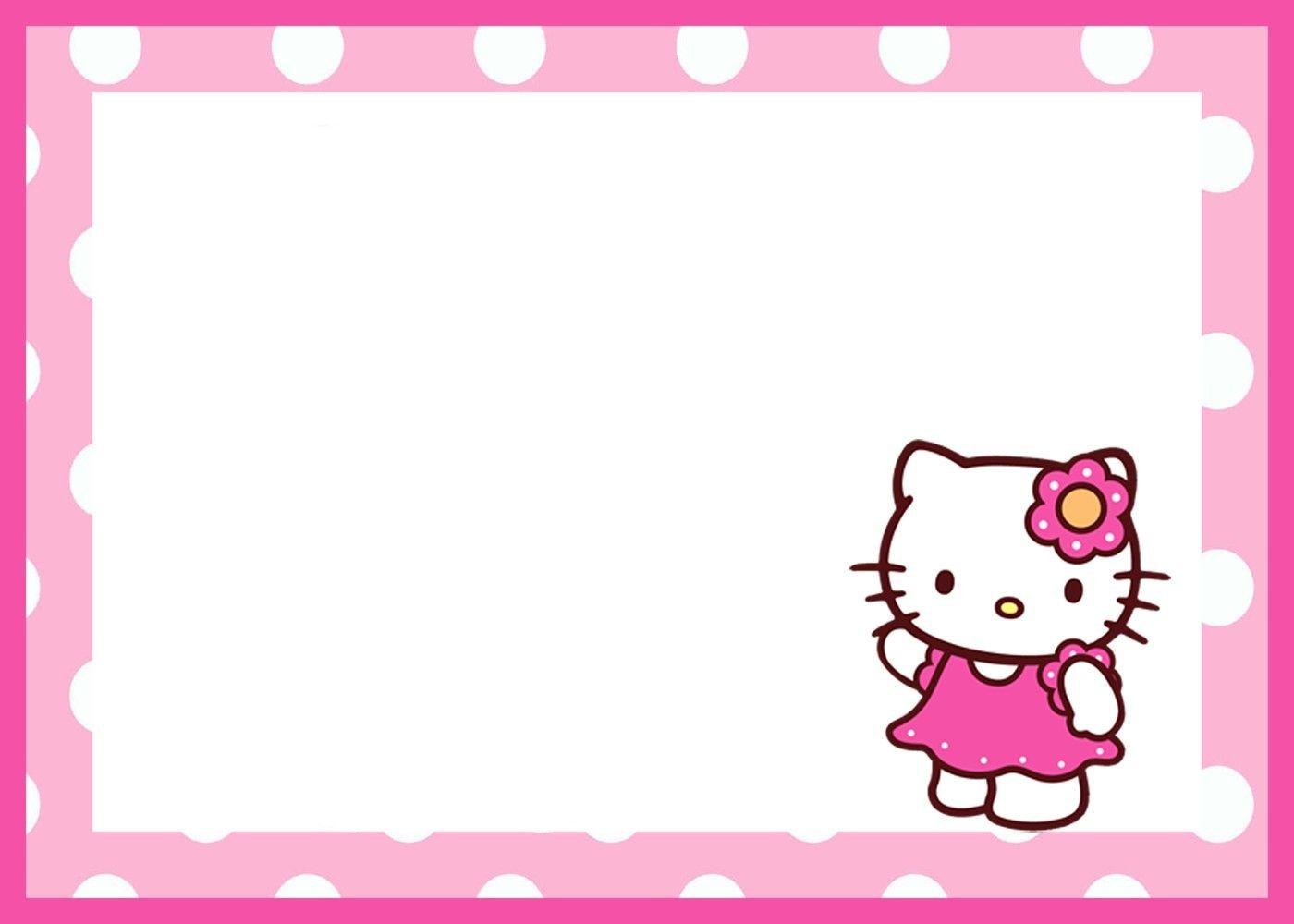 Hello Kitty Birthday Invitation Template | Javanese | Hello Kitty - Hello Kitty Free Printable Invitations For Birthday