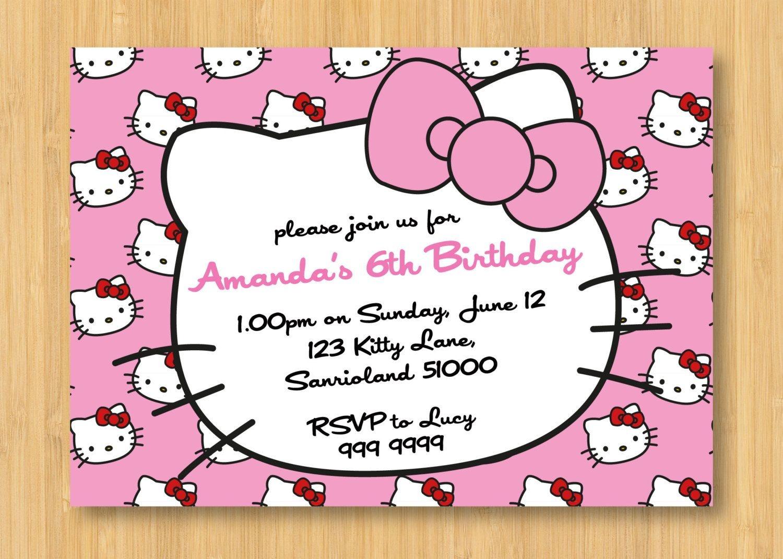 Hello Kitty Birthday Invitations Printable Free – Invitation - Hello Kitty Free Printable Invitations For Birthday