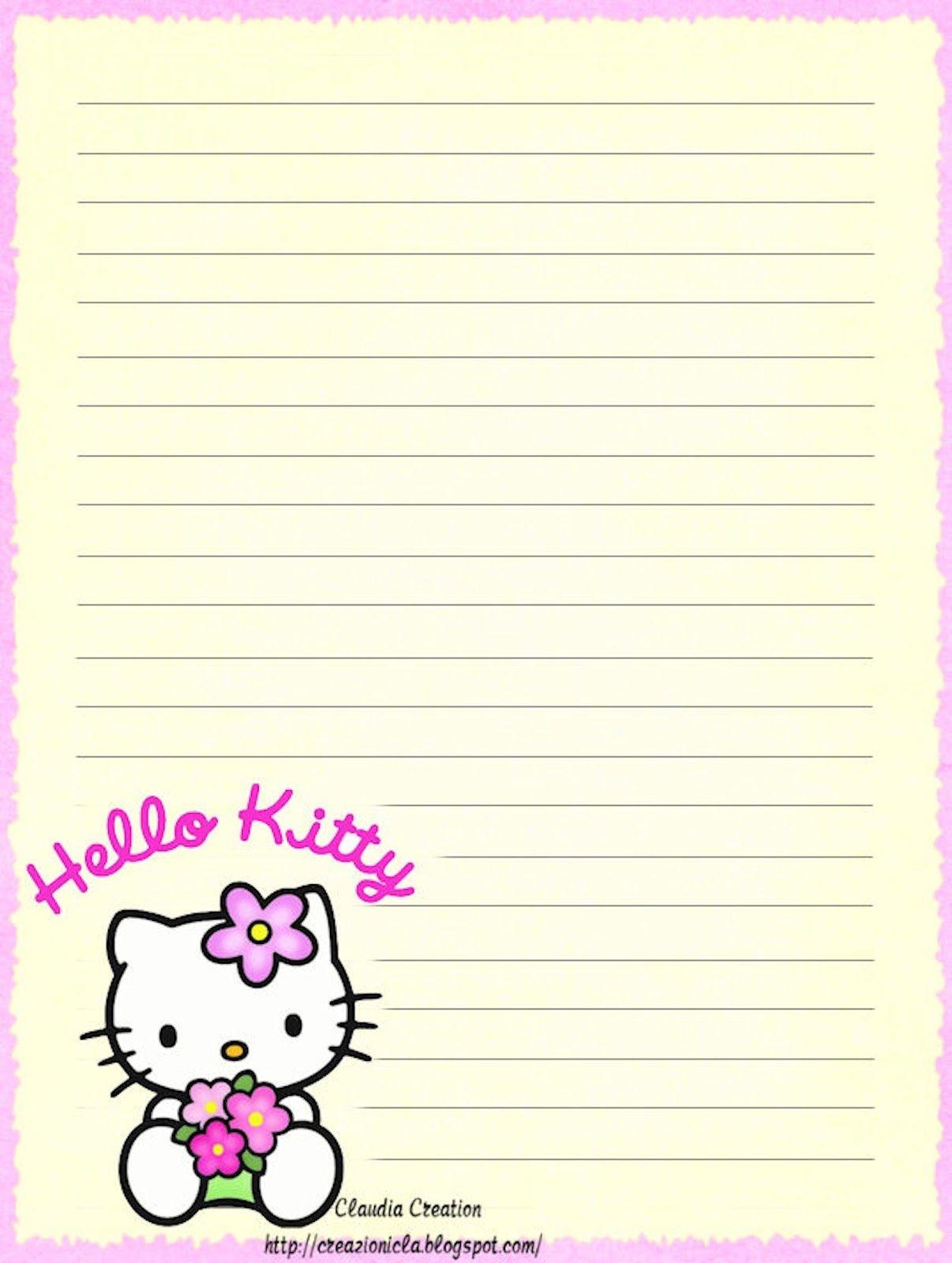 Hello Kitty | Borders,stationary,backgrounds | Hello Kitty, Hello - Free Printable Hello Kitty Stationery