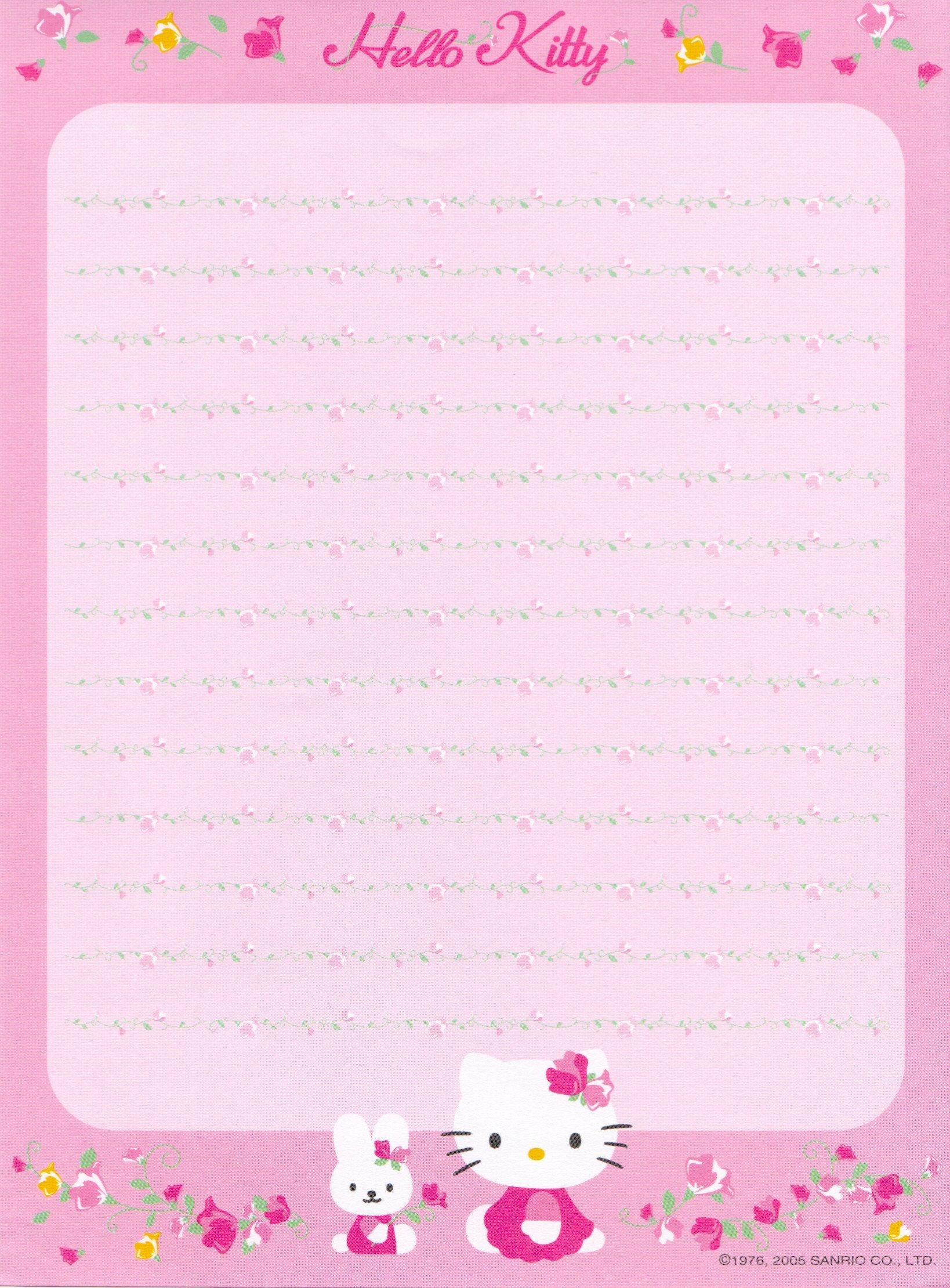 Hello Kitty | Borders,stationary,backgrounds | Hello Kitty, Writing - Free Printable Hello Kitty Stationery
