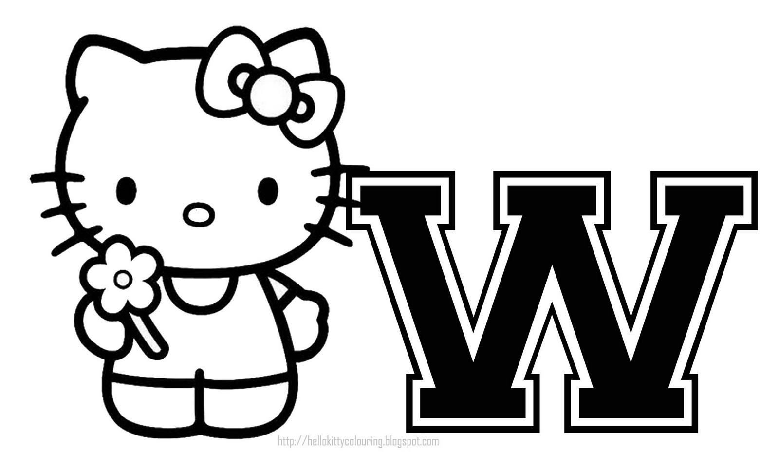 Hello Kitty - Hello Kitty Letters Y - Free Printable Hello Kitty Alphabet Letters