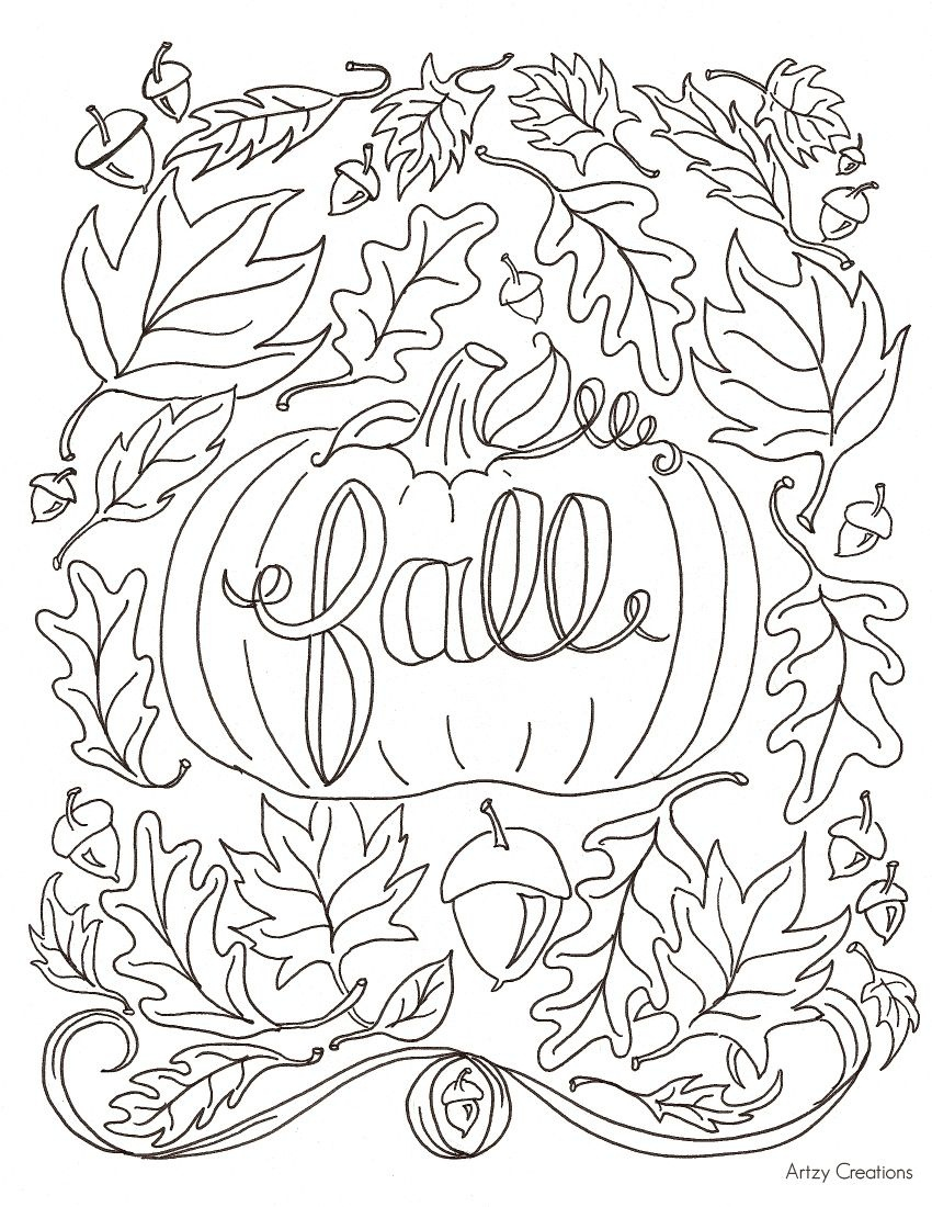 Hi Everyone! Today, I'm Sharing With You My First Free Coloring Page - Free Printable Fall Coloring Pages