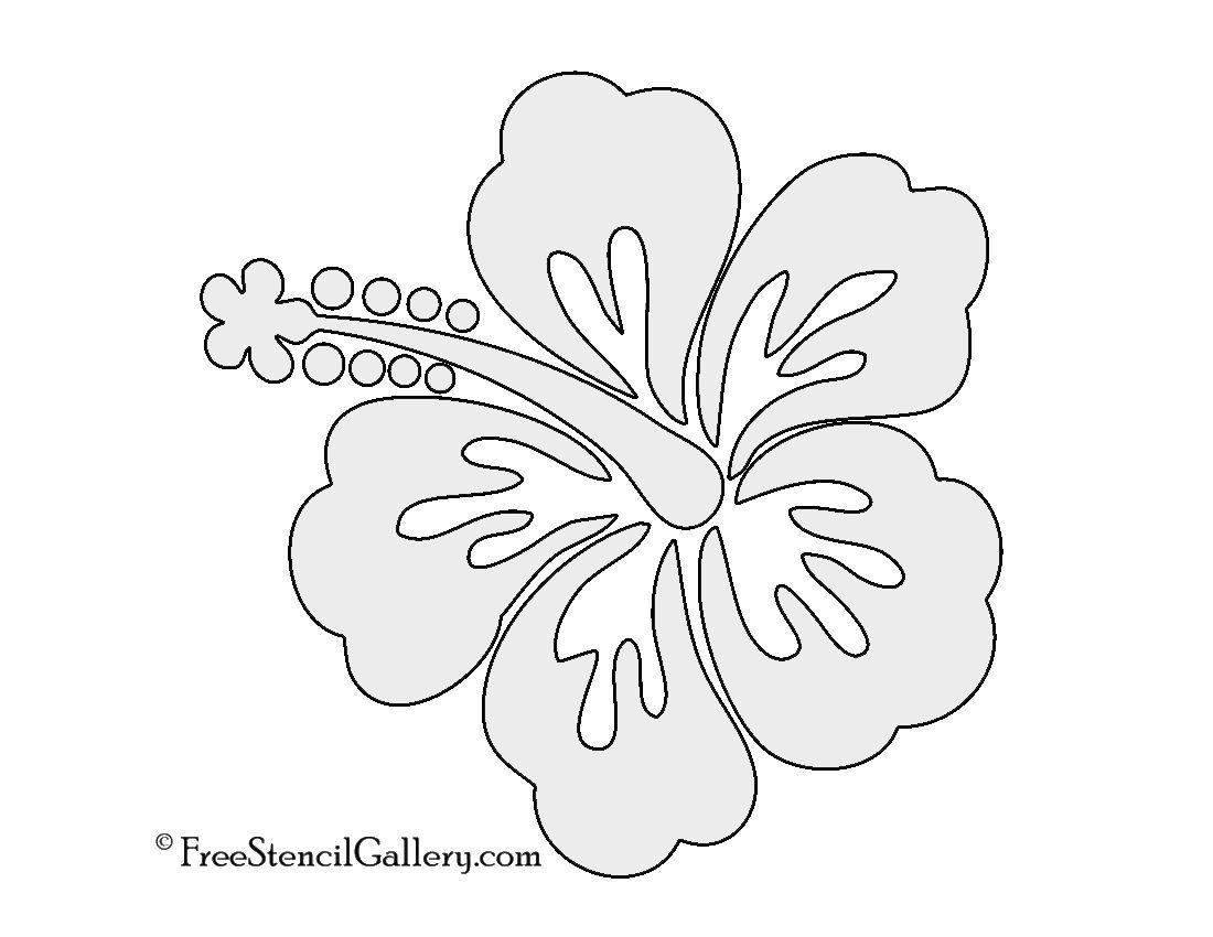 Hibiscus Flower Stencil | Free Stencil Gallery | Stencils | Hibiscus - Free Printable Flower Stencils