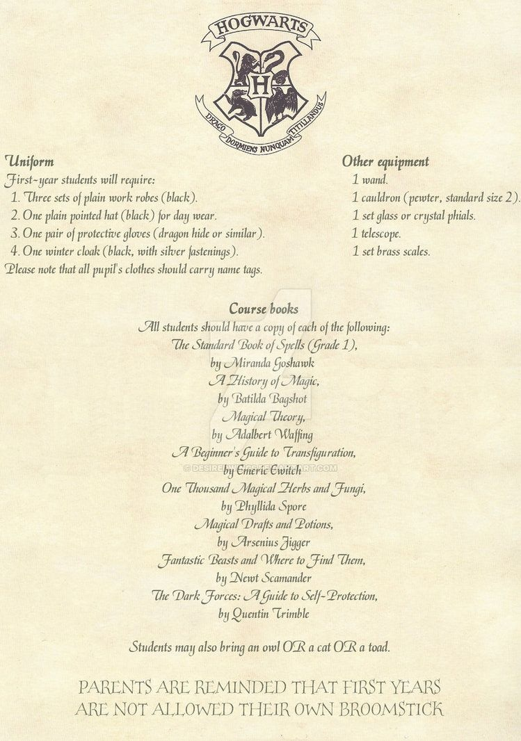 Hogwarts Acceptance Letter -English- 2/2Desiredwings   Harry - Hogwarts Acceptance Letter Template Free Printable