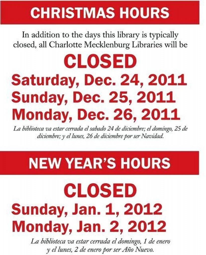 Holiday Closing Signs Templates | Trafficfunnlr - Free Printable Holiday Closed Signs