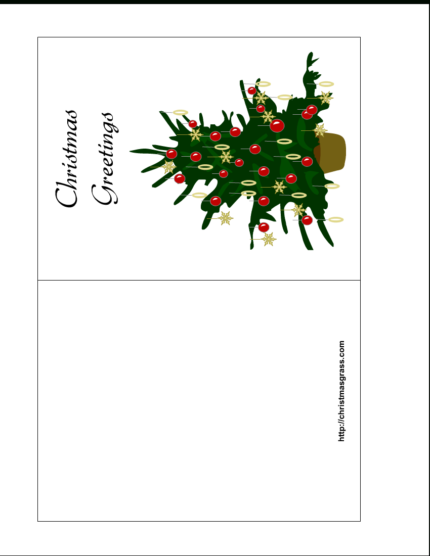 Holiday Greeting Card With Christmas Tree - Christmas Cards Download Free Printable