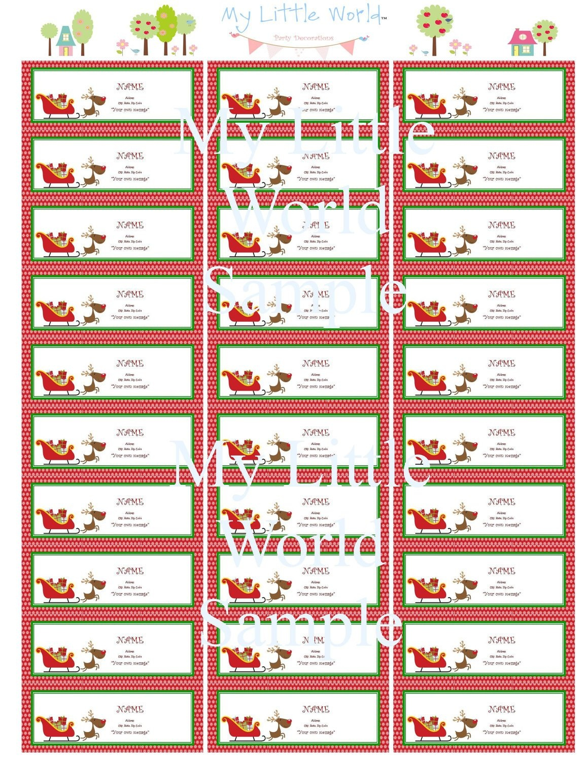 Holiday Return Address Labels Template Word – Tenak - Free Printable Return Address Labels