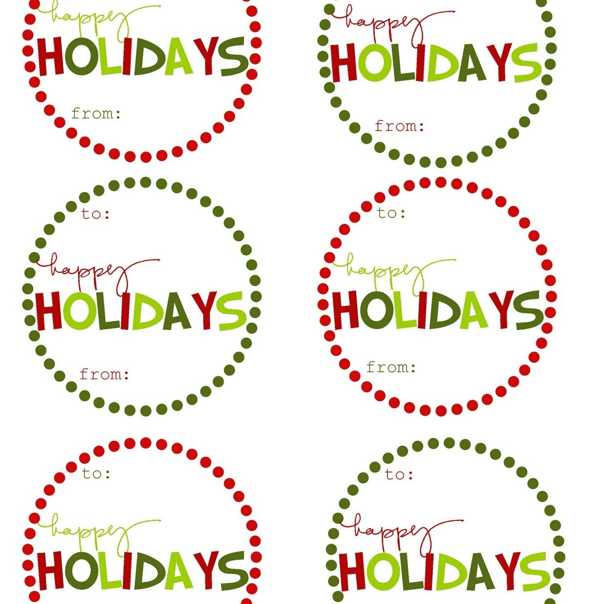 Holiday Tags - Tutlin.psstech.co - Free Printable Editable Christmas Gift Tags