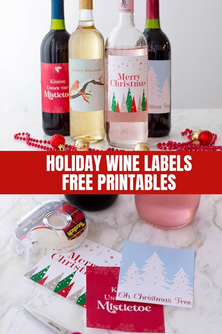 Holiday Wine Labels (Free Printables) - Onion Rings & Things - Free Printable Wine Labels