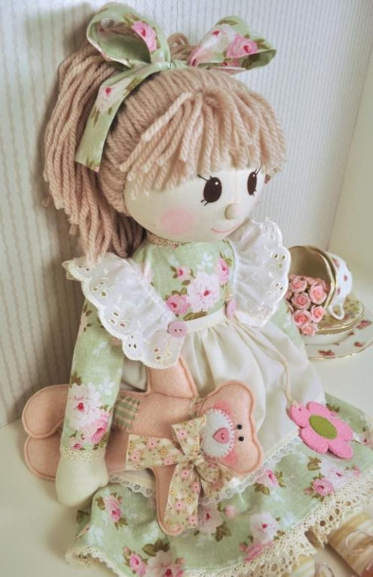 Holly Rag Doll Pattern - Pdf | Stuff To Try | Doll Sewing Patterns - Free Printable Cloth Doll Sewing Patterns